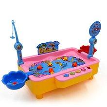 Детские игрушки головоломка электрическая Рыбалка Дарен электрическая вращающаяся имитация магнитной воды рыбалка диаопер