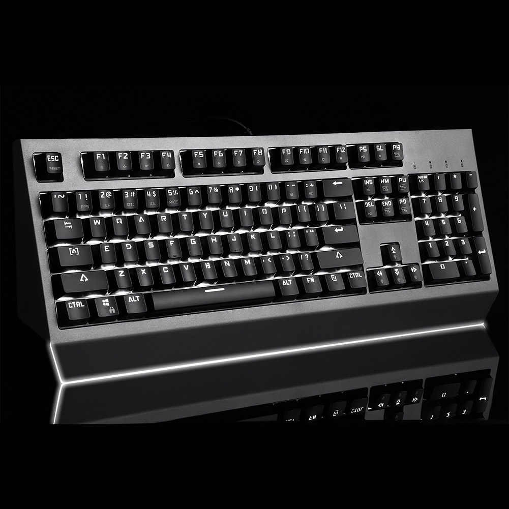 USB Wired Mekanis Keyboard dengan RGB Backlit 104 Kunci Gaming Keypad untuk Komputer PC AS99