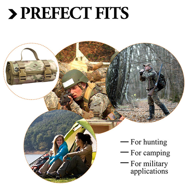 Outdoor Camping/Hunting Training EDC Tactical Shooting Mat Shooters Lightweight Roll-Up Military Airsoft Gun Pad Accessories 2