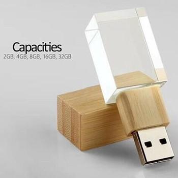 NEW Wooden Bamboo Walnut Carbonized Bamboo usb 2.0 memory flash stick pen drive (Custom Personalized logo)