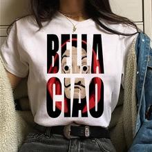 La Casa De Papel Tshirt Money Heist Tees TV Series T Shirt Women T Short Sleeve House of Paper Funny Female T-Shirt Tops