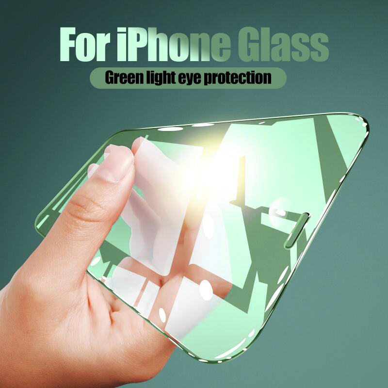 Full Cover Green Light Protective Glass For IPhone 11 Pro MAX 6 6s 7 8 Plus Screen Protector For IPhone XR XS MAX SE 2020 Glass