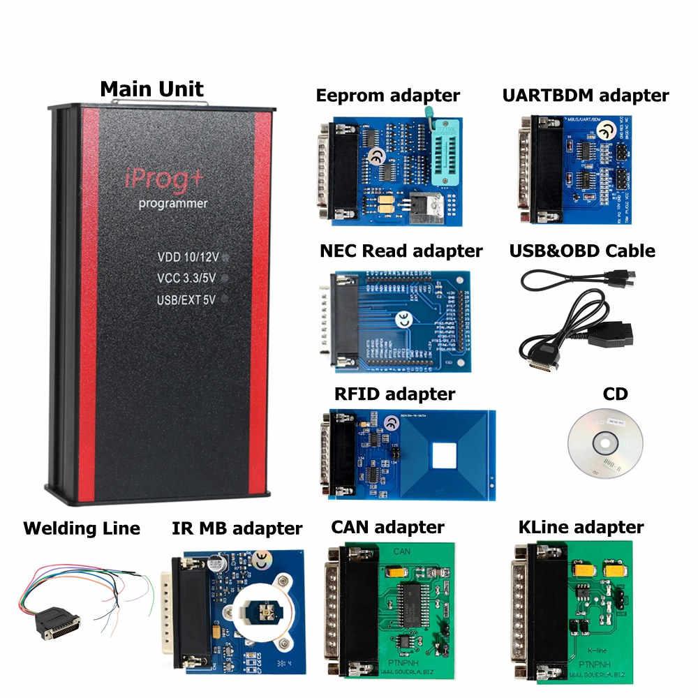 Terbaru V84 IPROG + Prog Programmer IProg Mendukung IMMO/Mileage Koreksi/Airbag Reset Mengganti Carprog/Digiprog/tango Sampai 2019
