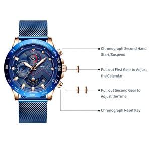 Image 3 - CRRJU Fashion Mens Watches Luxury WristWatch Quartz Clock Blue Watch Men Waterproof Sport Chronograph Relogio Masculino