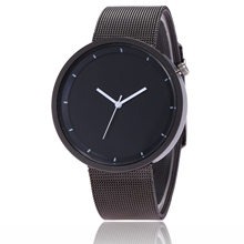 Amazon Hot Selling Good Quality Stainless Steel Net Watch Wholesale Men's, Black Waterproof Quartz Watch Manufacturers(China)