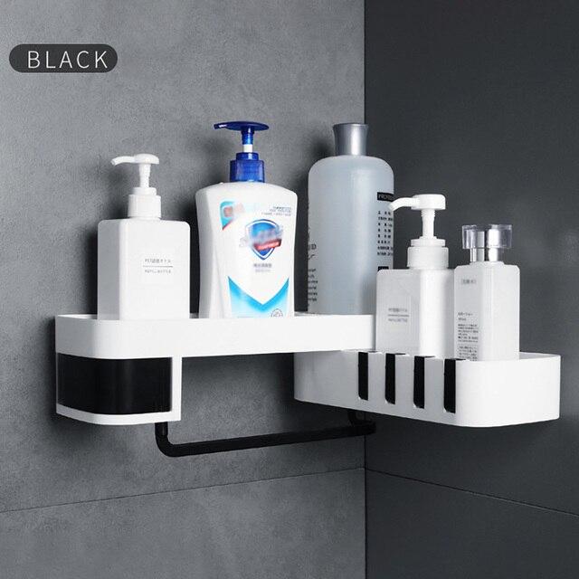 1 pcs  Corner Shower Shelf Bathroom Shampoo Shower Shelf Holder Kitchen Storage Rack Organizer Wall Mounted Type baño 4полка для 4