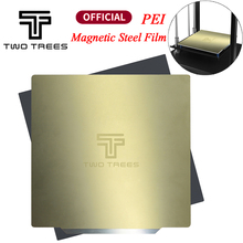 TWOTREES Upgrade Removal Spring Steel PEI Sheet Pre Applied PEI Flex Magnetic Base for CR10 Ender Sapphire Bluer Hot Bed Sticker