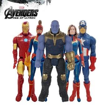 Disney Marvel Toys Avengers Endgame 30CM Super Hero Thor Captain Thanos Hulk Spider Man Iron Action Figure Dolls Kid Gift