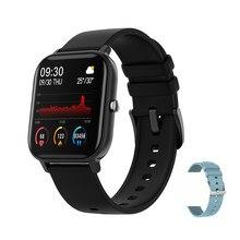 Senbono 2020 p8 relógio inteligente das mulheres dos homens do esporte ip67 à prova dip67 água freqüência cardíaca monitor de pressão arterial smartwatch para ios android