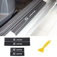 4 sztuk uszczelka do drzwi samochodu naklejki dla FORD s max Carbon Fibe odporne na zadrapania Auto ochrona drzwi naklejki foliowe akcesoria samochodowe stylizacja
