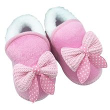Baby Shoes Girls Boots Winter Wool Bowknot Snow Boots First
