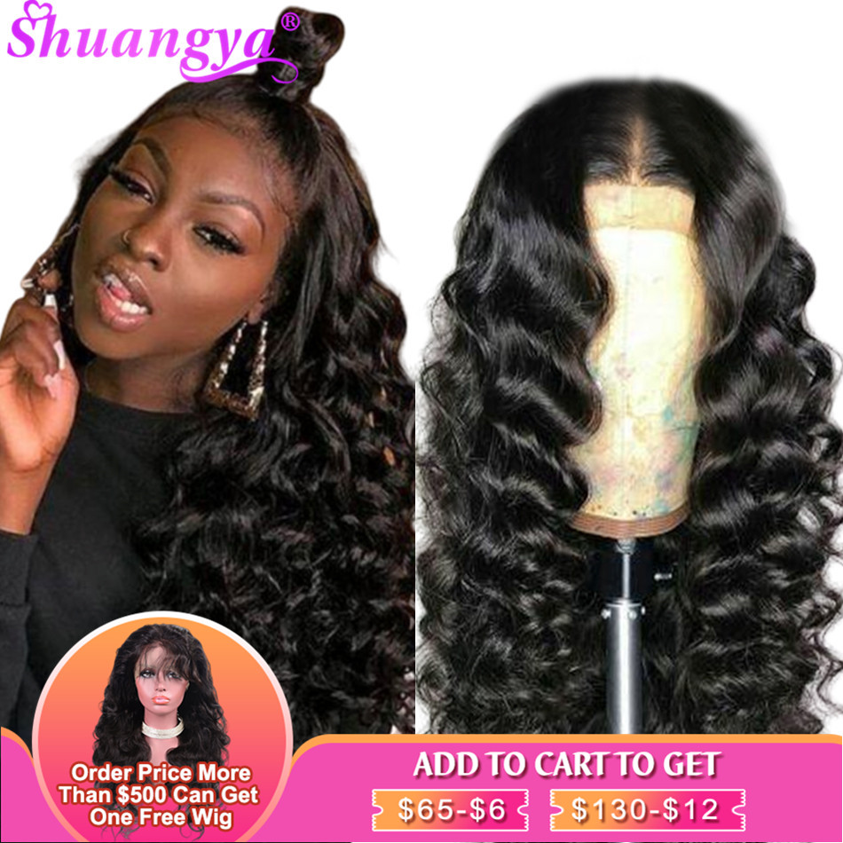 13X4/13X6 Lace Front Human Hair Wigs Remy Peruvian Loose Deep Wave Lace Frontal Wigs Pre Plucked With Baby Hair Lace Front Wigs