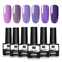 NEE JOLIE 8ml Purple Series Color Soak Off Gel Polish 1 Bottle UV Varnish 8 Colors Available One-shot Nail Art