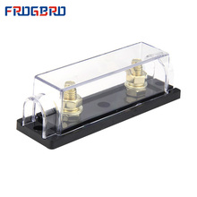 Fuse-Box-Holder Anl-Fuse Nickel-Plated Plastic FROGBRO Cover for Frosted Gold Silver