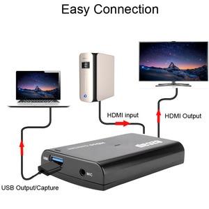 Image 4 - Tarjeta de captura de vídeo HDMI de 1080P y 60fps, grabadora de Audio con micrófono USB 3,0 para PS4, Xbox, Vmix, OBS, Youtube, placa de transmisión en vivo, bucle 4K