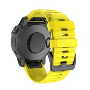 Image 4 - 14 צבעים רך סיליקון החלפת צמיד 20 26 22mm שעון צמיד strapfor Garmin Fenix 5X 5 5S Easyfit החלפה להקות