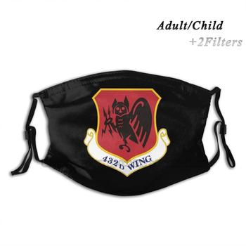 432nd Air Expeditionary Wing Print Reusable Mask Pm2.5 Filter Face Mask Kids Military Defence Army Navy Airforce Odst Marines image