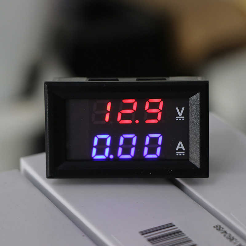 Mini Digitale Voltmeter Ampèremeter Met Dual Led Displaydc 100V 10A Panel Amp Volt Voltage Auto Current Meter Tester hot Koop
