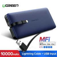 Ugreen Power Bank 10000mAh para iPhone X 7 Xiaomi batería externa para USB iPhone Cable cargador portátil Poverbank