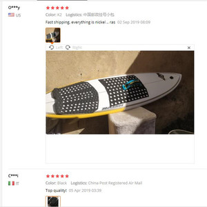 Image 5 - 서핑 3M 접착제 패드 pranchas 드 프론트 패드 EVA 블랙/화이트 색상 서핑 패드 서핑 보드 트랙션 패드 서핑 매트 presale