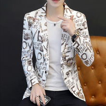 2020 Casual Men Suit Blazer Slim Fit Prom Costume for Men Fashion Floral Printed