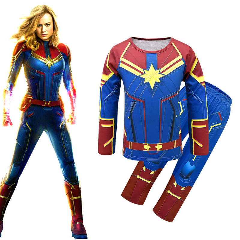 new-arrival-deluxe-captain-font-b-marvel-b-font-child-girls-superhero-kids-halloween-cosplay-carnival-party-costume-kids-set-cosplay-costume