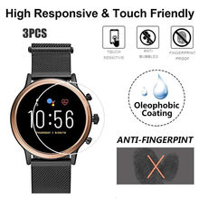 3PCS Clear Film Tempered Glass Screen Protector for Fossil Gen5 Q Smart Watch(China)