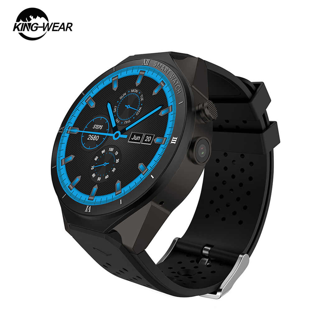 Kingwear KW88 Pro 3G Smartwatch Heart Rate1.39 Inch 1 Gb 16GB Android 7.0 MTK6580 Quad Core 1.3G Hz bluetooth Pengingat Sesaat