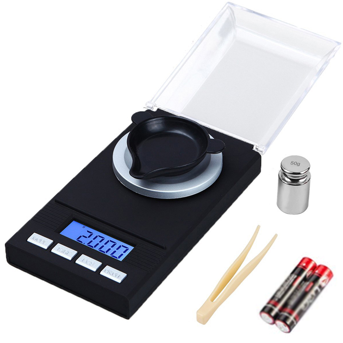 100g/50g/20g/10g Electronic Jewelry Scales 0.001g LCD Digital Scale Medicinal Herbs Portable Lab Weight Milligram Scale