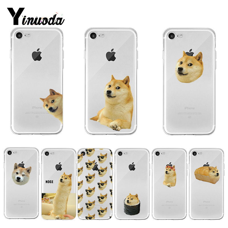 Yinuoda Doge Meme Kabosu Cute funny Colorful Cute Phone Accessories case for iPhone 8 7 6 6S Plus X XS MAX 5 5S SE XR 11 pro max image