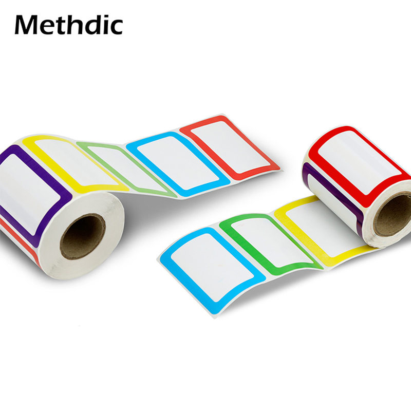 Methdic A Stlye 250 Stickers Colorful Name Tag Sticker Label Printing