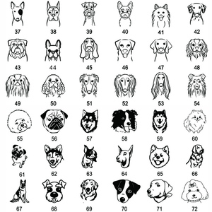 Image 5 - New 1pcs cat dog ID tag Free engraving dog Collar pet Charm Pet name pendant Bone Necklace Collar Puppy cat collar accessory