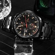 FORSINING 機械式腕時計メンズ多機能ステンレス防水コンプリートカレンダー軍事腕時計 Montre レロジオ