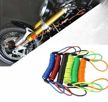 120cm Motorcycle Alarm Disc Scooter Lock Security Anti Thief Motorbike Disc Lock Reminder Coil Cable Bike Security Accessories image