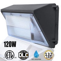 120W Outdoor 132 LED Wall Pack Light Industrial Security Garden Outdoor Floodlight Lighting Waterproof IP65 AC100 277V