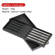 Household Titanium Chopsticks Foldable Reusable Style Chinese fiber with Storage Bag