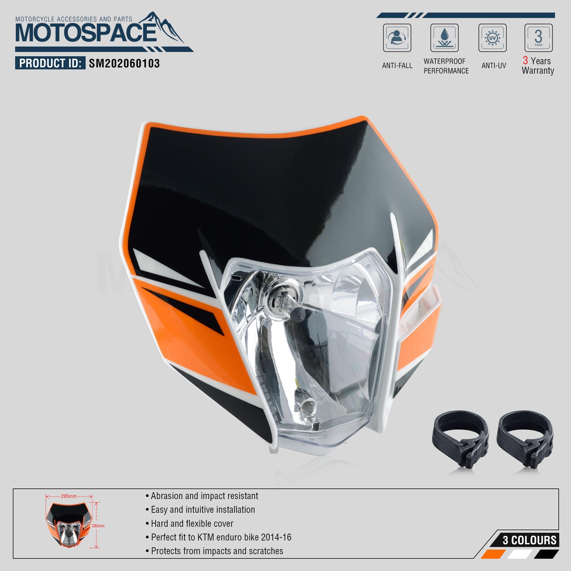 cheapest Spacemotors Headlight Headlamp With Sticker For KTM SX F EXC XCF SMR 2014 2015 2016 Motorcycle Dirt Bike MX Enduro Supermoto