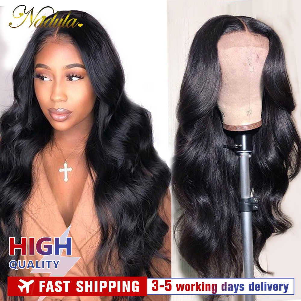 Nadula Lace Front Wig 13*4/6 Brazilian Body Wave Wig Medium Brown Lace Front Human Hair Wigs 360 Lace Frontal Wigs For Women