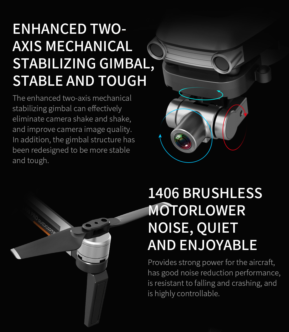 Image 3 - L109 Pro GPS Profissional Drone with HD 4K Gimbal Camera 5G WiFi FPV 1.2km control Brushless Motor RC Quadcopter Helicopter ToyRC Helicopters   -
