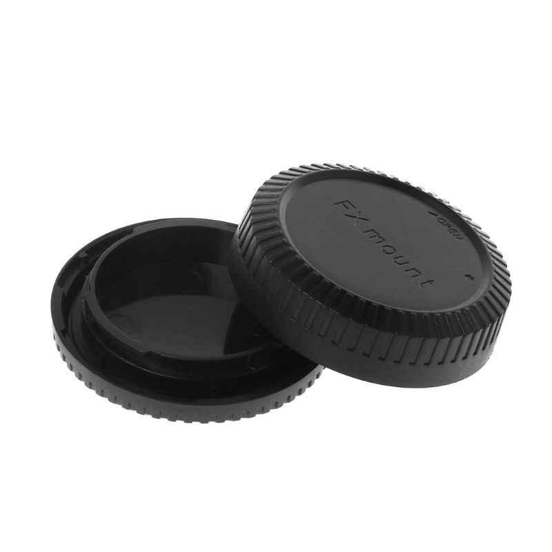 Задняя крышка объектива Крышка камеры защита от пыли пластик черный для Fuji Fujifilm FX