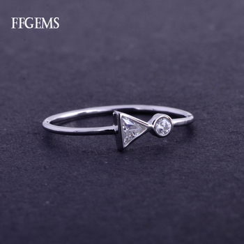 FFGems Elegant100% 10K Gold Ring Sterling Moissanite EF Color Au417 Fine Jewelry For Women Lady Engagement Wedding Party Gift image