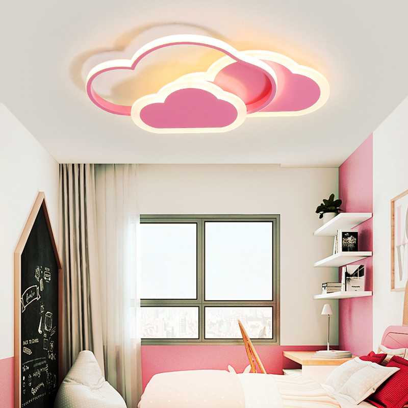 Thresh розовый потолочный светильник с облаком для девочек, декоративный Детский Светильник для детской комнаты, светодиодный светильник с