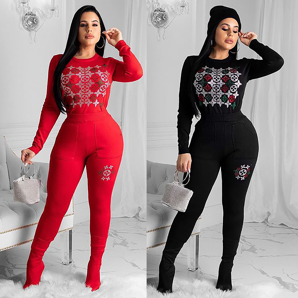 2 Piece Women Set Africa Clothes African Dashiki New Fashion Suit Top And Trousers Super Elastic Party Plus Size For Lady