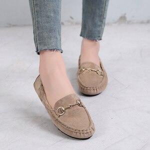 Image 5 - حذاء نسائي جديد صيفي بدون كعب حذاء أكسفورد 2020 حذاء نسائي مسطح غير رسمي أسود أخضر ناعم تصميم علامة تجارية بدون كعب