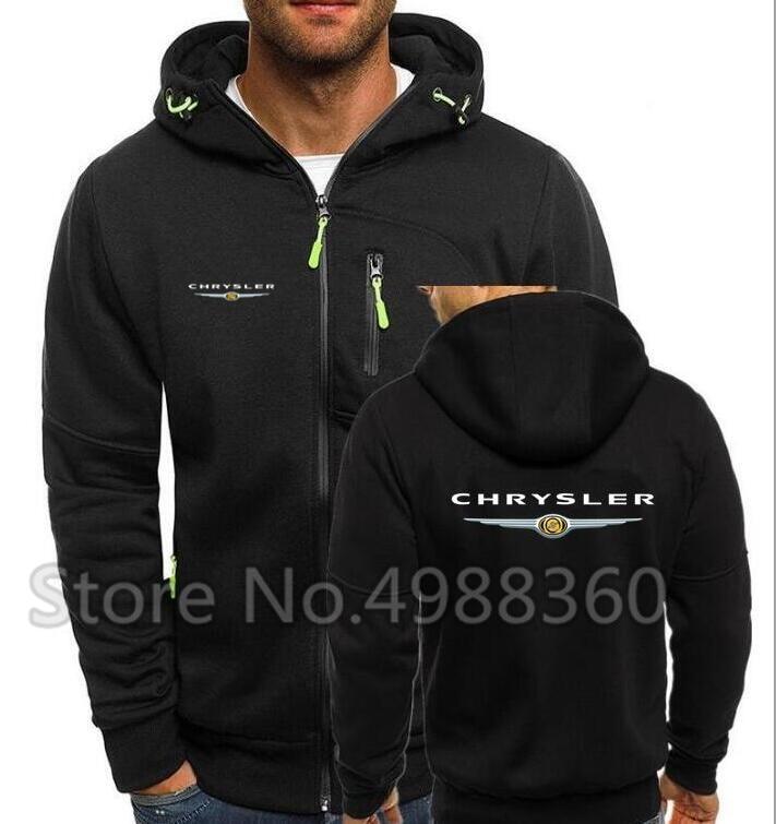 Мужская толстовка на молнии с логотипом Chrysler, Повседневная Толстовка с капюшоном на молнии, модель F1, зима 2019