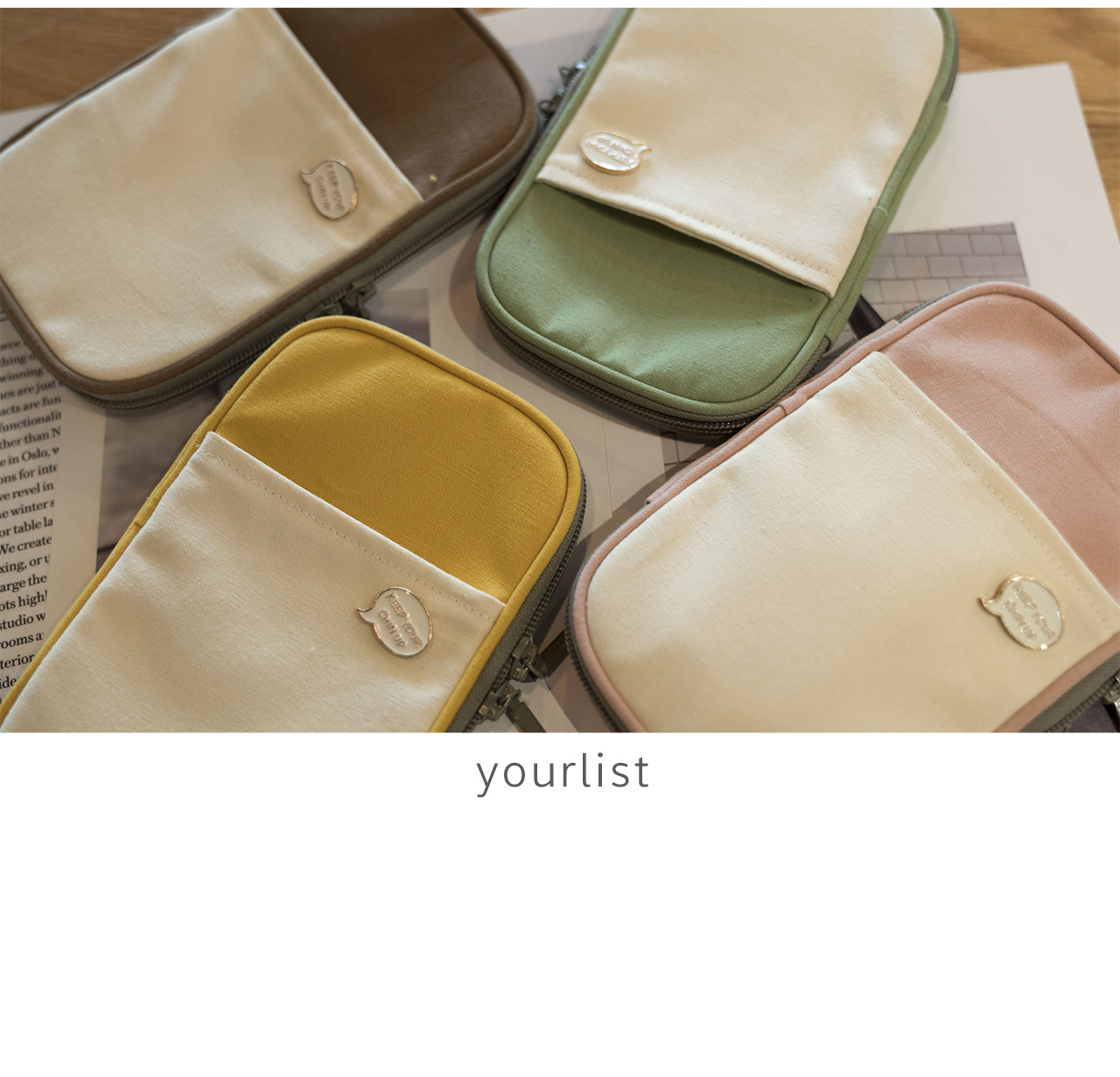 Cute Joint Color Flat Zipper Bag Big Size Pencil Bag 200*110*20mm Free Shipping 2020 Stationery Gift