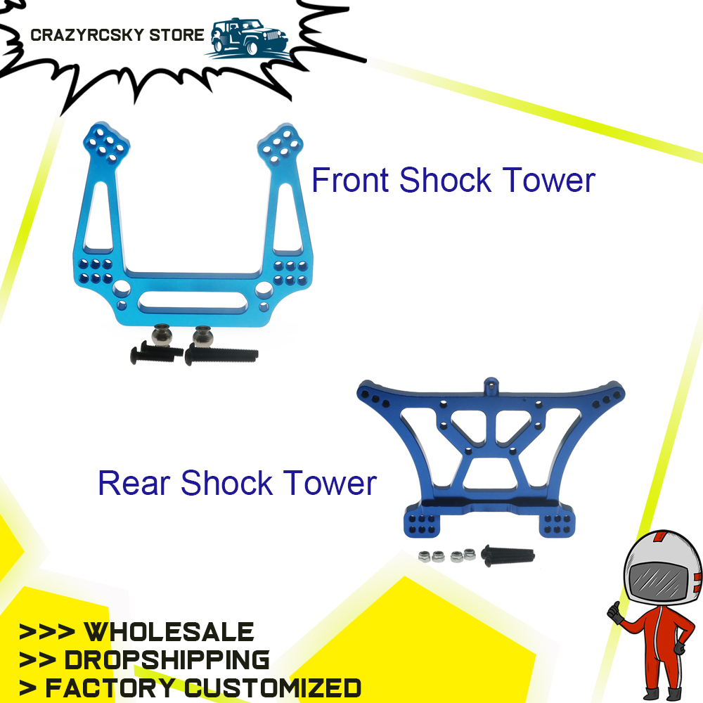 Alloy Front/Rear Shock Tower For Rc Hobby Model Car For 1/10 Traxxas Slash 2Wd Short Course