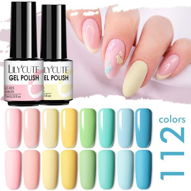 LILYCUTE Matte Gel Nail Polish Matte Top Coat Need 7ML Autumn Color Hybrid Varnish Soak Off UV Gel Nail Art Design Gel Polish 4