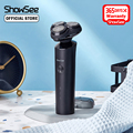 Showsee Electric Shaver Razor Beard Trimmer For Men Dry Wet Beard Trimmer Portable Rechargeable Washable Shaving Machine