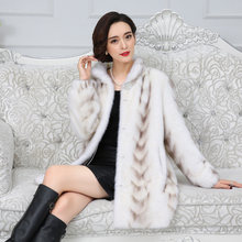 Fur quality Real Mink Superior Coat 2020 Winter Women China Full Sleeve Thick Warm Long Genuine Natural Fur Coats Plus size 3xl(China)